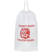 "Picture of Medium Cotton Cord Drawstring Bag - 12"" X 16"""